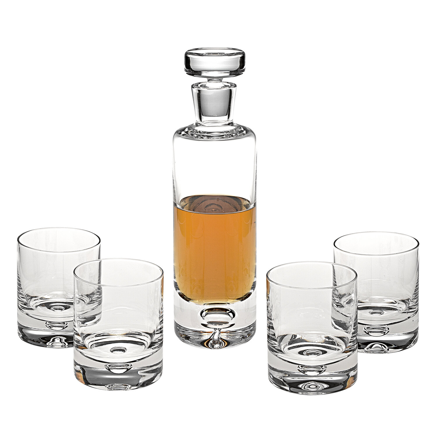 Darby Home Co Ginsburg 5 Piece Whiskey Decanter Set