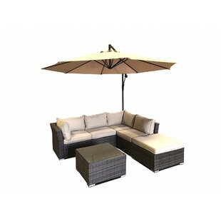 5 Piece Sectional Set with Cushions