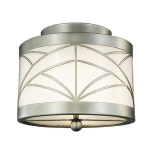 Meyda Tiffany Revival Deco Cilindro 2-Light Flush Mount
