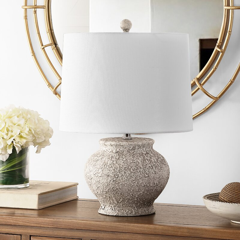 August Grove Advika 21 Light Gray Table Lamp Wayfair