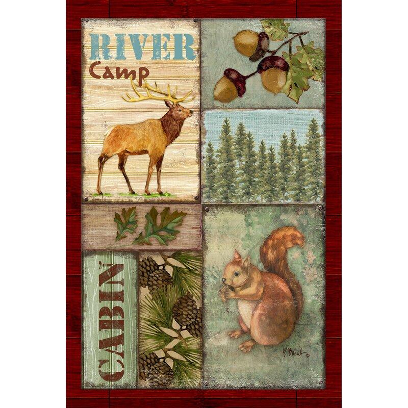 Toland Home Garden Cabin Camp Garden flag | Wayfair
