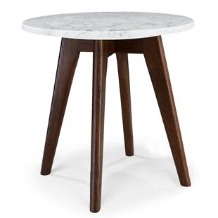 Hauck Marble End Table by Wrought Studio