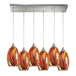 Flemington 6-Light Cluster Pendant by Latitude Run