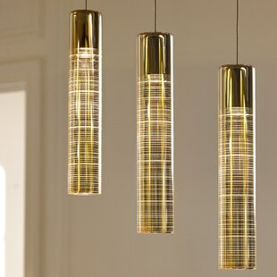 Everly Quinn Lapine 1-Light Cylinder Pendant