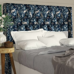 Flavia Tufted Linen Upholstered Wingback Headboard