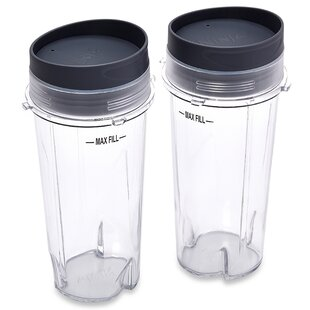 Ninja 16-Ounce Single Serve Cups with Lids (Set of 2)