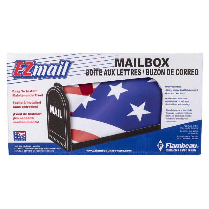 American Flag USA Flambeau 6530US Scenic Decor Series Mailbox