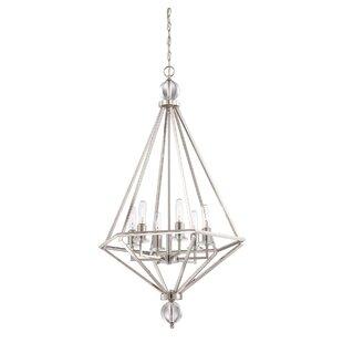 Mercer41 Alvarenga 6-Light Geometric Chandelier