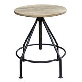 Collinsville Solid Wood Adjustable Height Bar Stool by Williston Forge