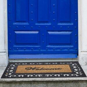 Bellbrook Rubber Fleur De Lis Doormat