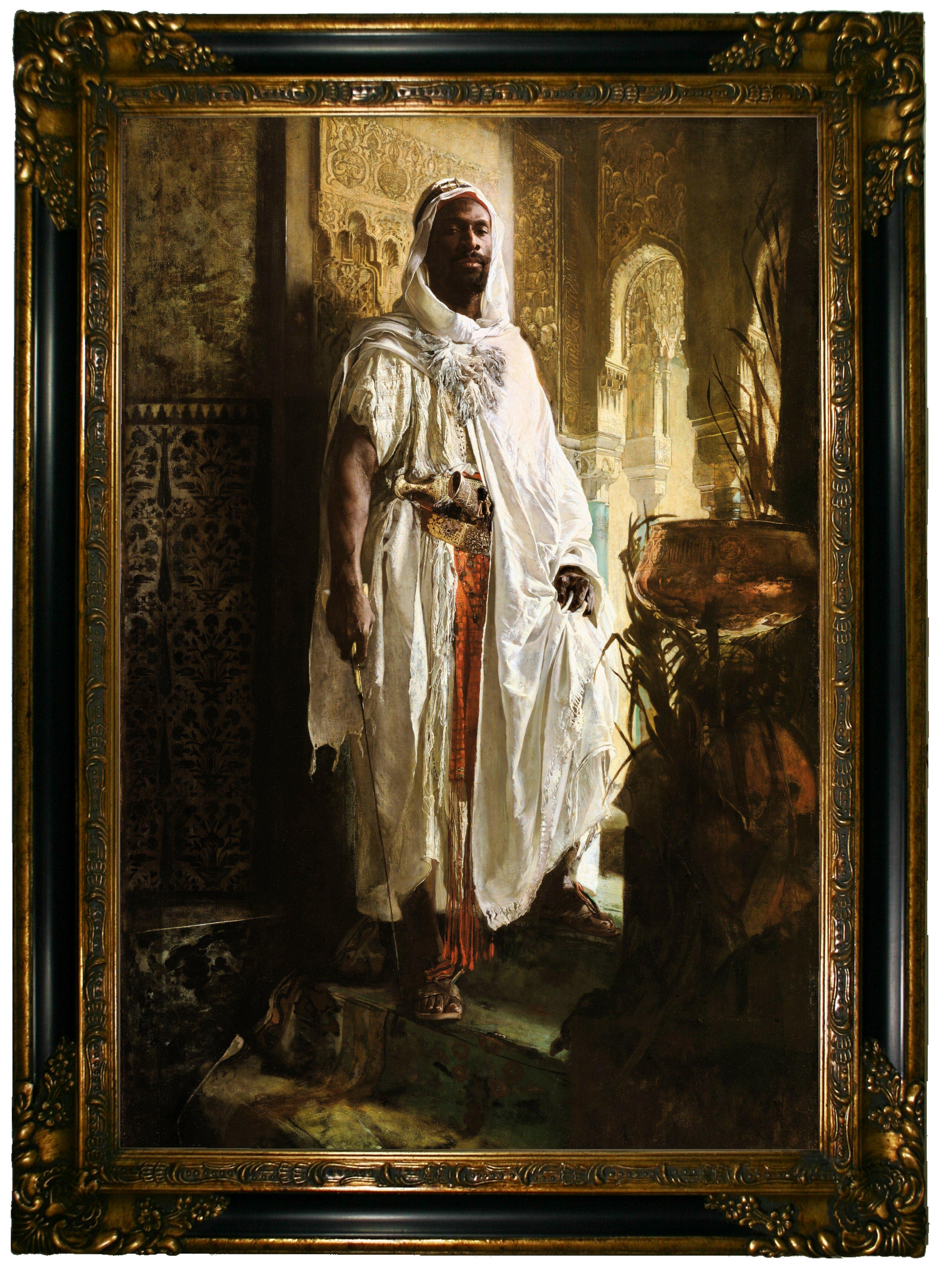 Astoria Grand The Moorish Chief 1878 By Eduard Charlemont Framed Painting Print Reviews Wayfair