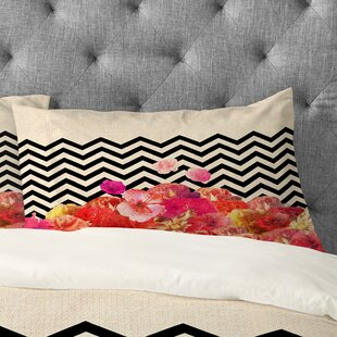 Bianca Green Chevron Flora 2 Pillowcase