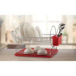 Diamond Home Deluxe 2-Tier Dish Rack