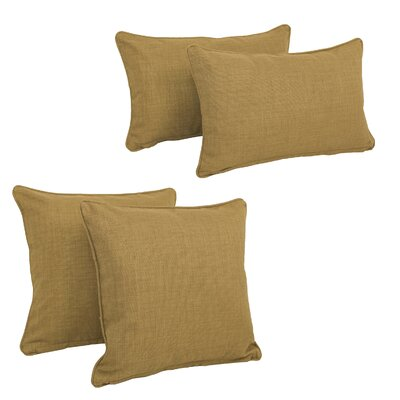 Three Posts Dunwich Indoor/Outdoor Throw Pillow Color: Wheat