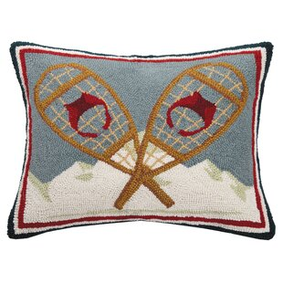 Alaska Vintage Snow Shoes Wool Lumbar Pillow