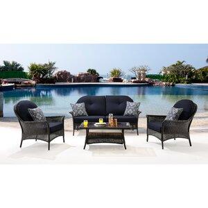 San Marino 4 Piece Deep Seating Group with Cushions