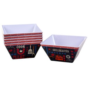 BBQ Bandit Melamine Ice Cream Bowl (Set of 6)