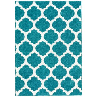 Best Reviews Nannie Blue/White Area Rug By Zipcode Design