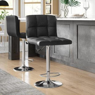 Tucanae Adjustable Height Swivel Bar Stool (Set of 2)