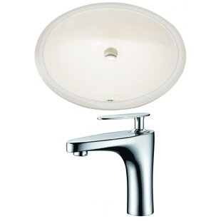 Look for CUPC Ceramic Oval Undermount Bathroom Sink with Faucet and Overflow ByRoyal Purple Bath Kitchen