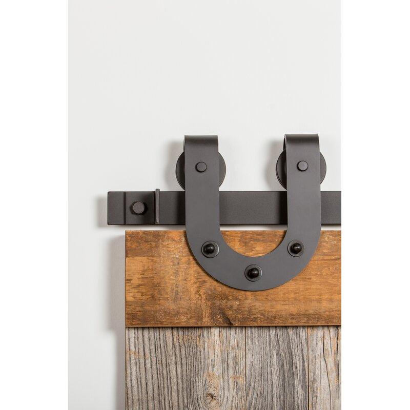 Flat Track By Leatherneck Hardware Horseshoe Premium Standard Single Barn Door Hardware Kit Wayfair