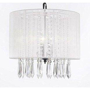 House of Hampton Brookline 3-Light Crystal Chandelier