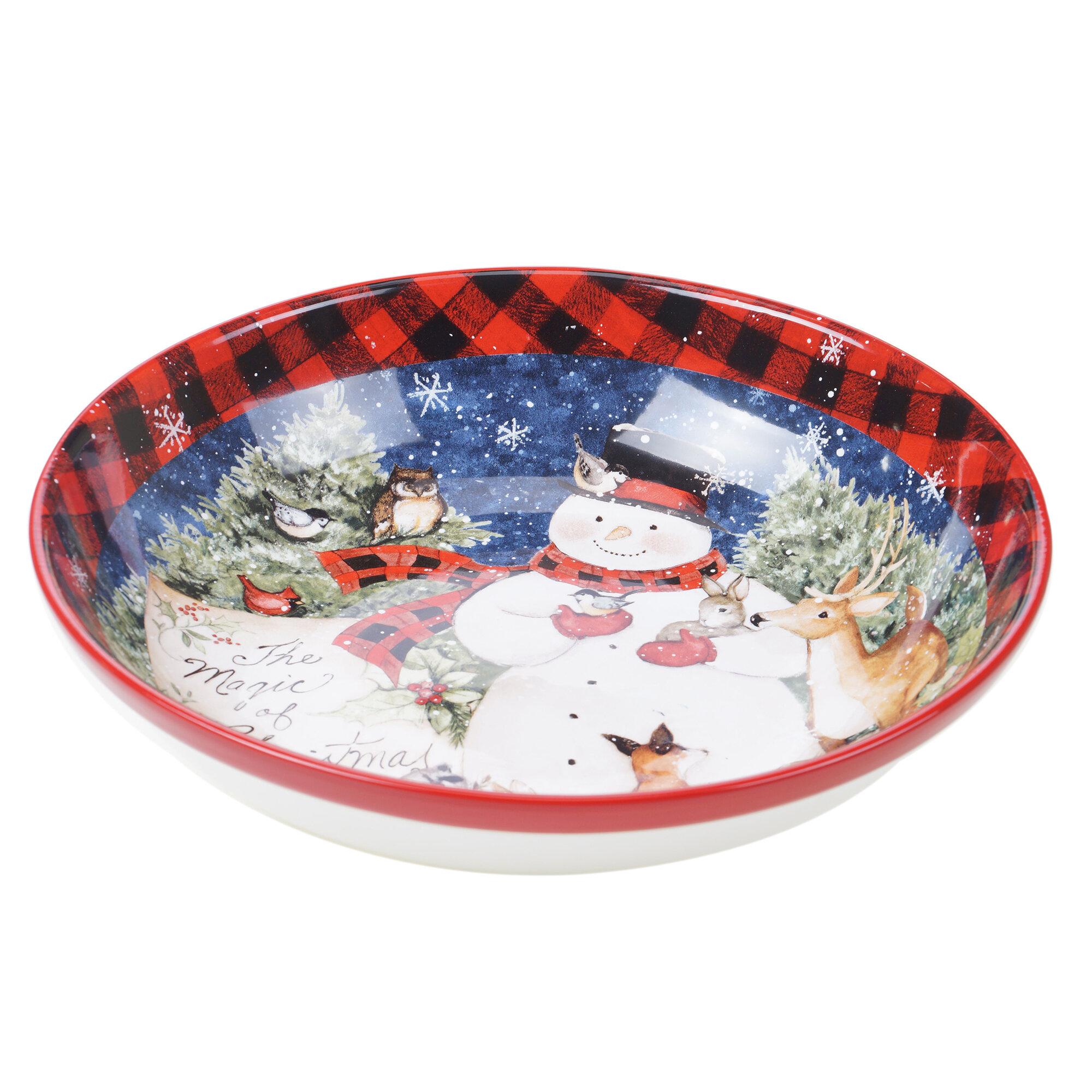 Christmas cup Santa Claus bowl Hand painted fruit bowl snack bowl Hand thrown Christmas pottery Set of Christmas bowl ceramic bowl