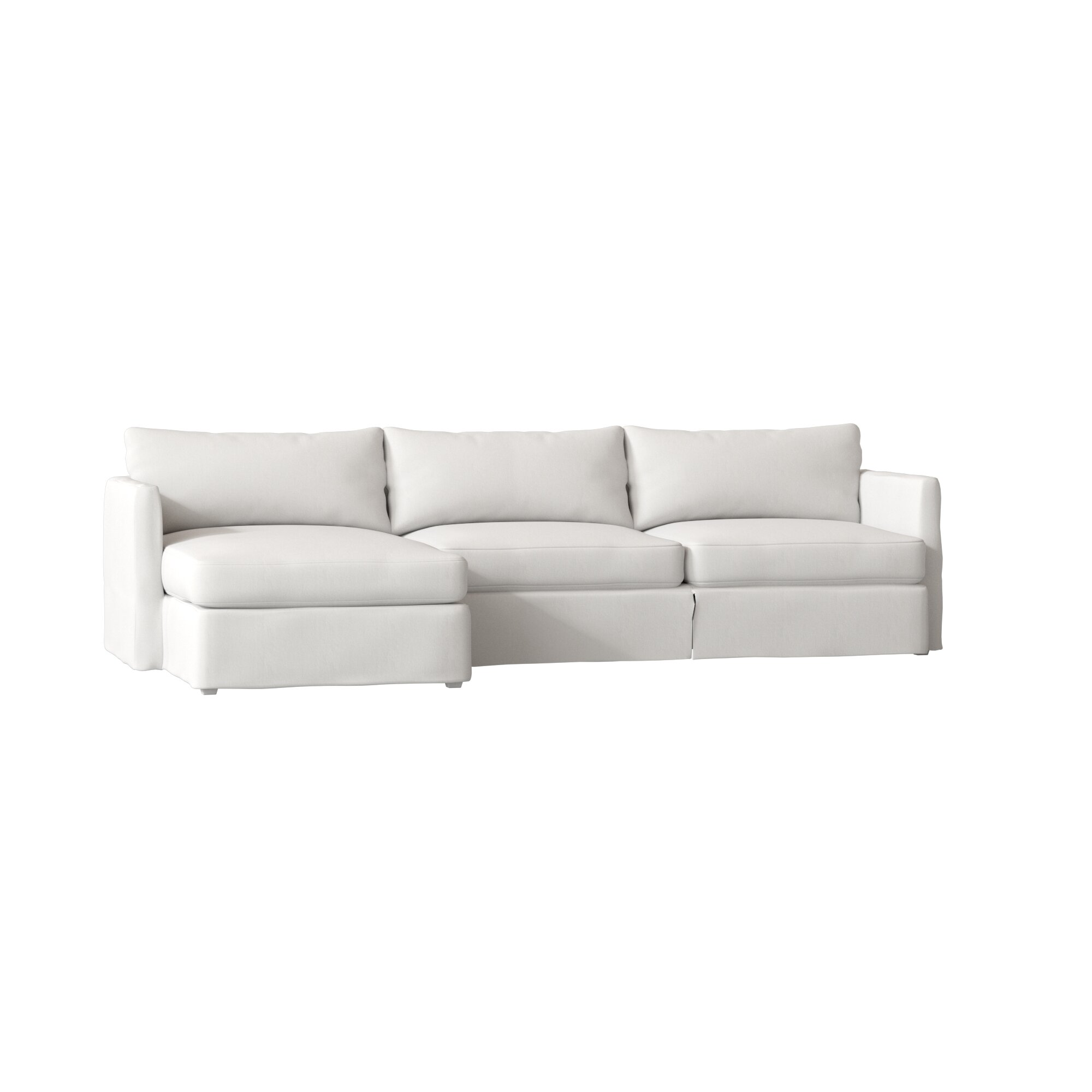 White Slipcover Sofa With Chaise Slipcovered Sofas Are ...