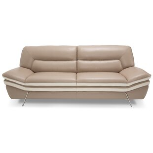 Mia Bella Carlin Leather Sofa by Michael Amini