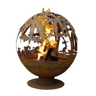 EsschertDesign Tropical Fire Globe Steel ..