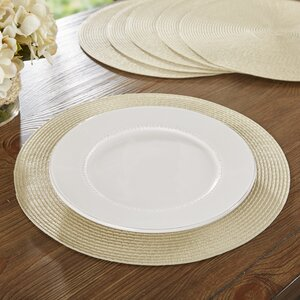 Wayfair Basics Round Woven Placemat (Set of 6)