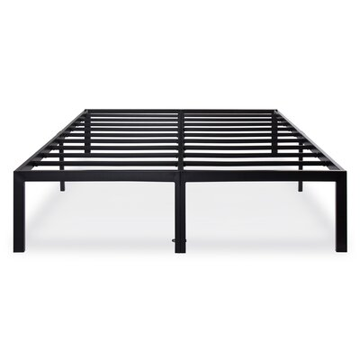 Billman Metal Steel Slate Bed Frame Size: King