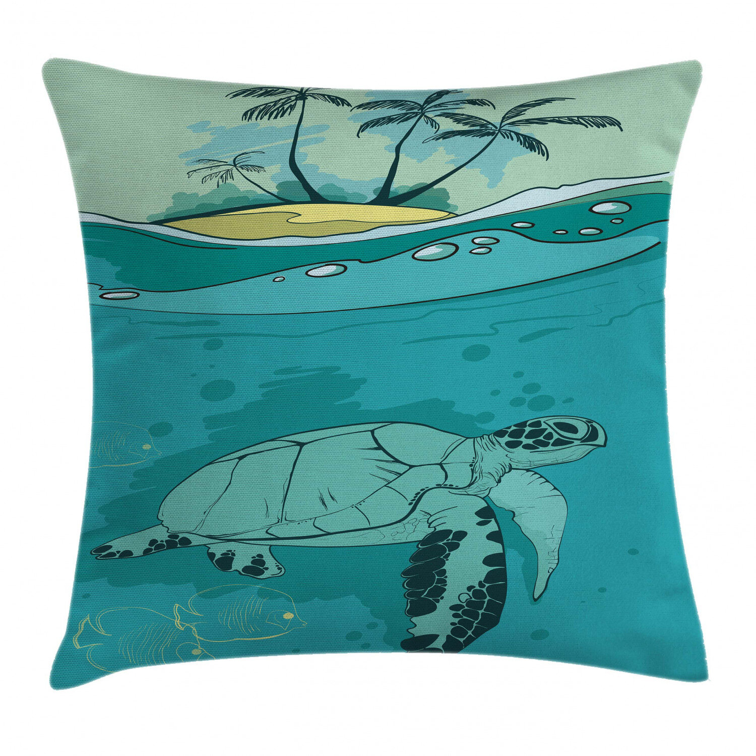 East Urban Home Sea Turtle Swimming Coral Indoor Outdoor 26 Throw Pillow Cover Wayfair