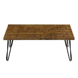 Munk Wood and Metal Coffee Table by Williston Forge