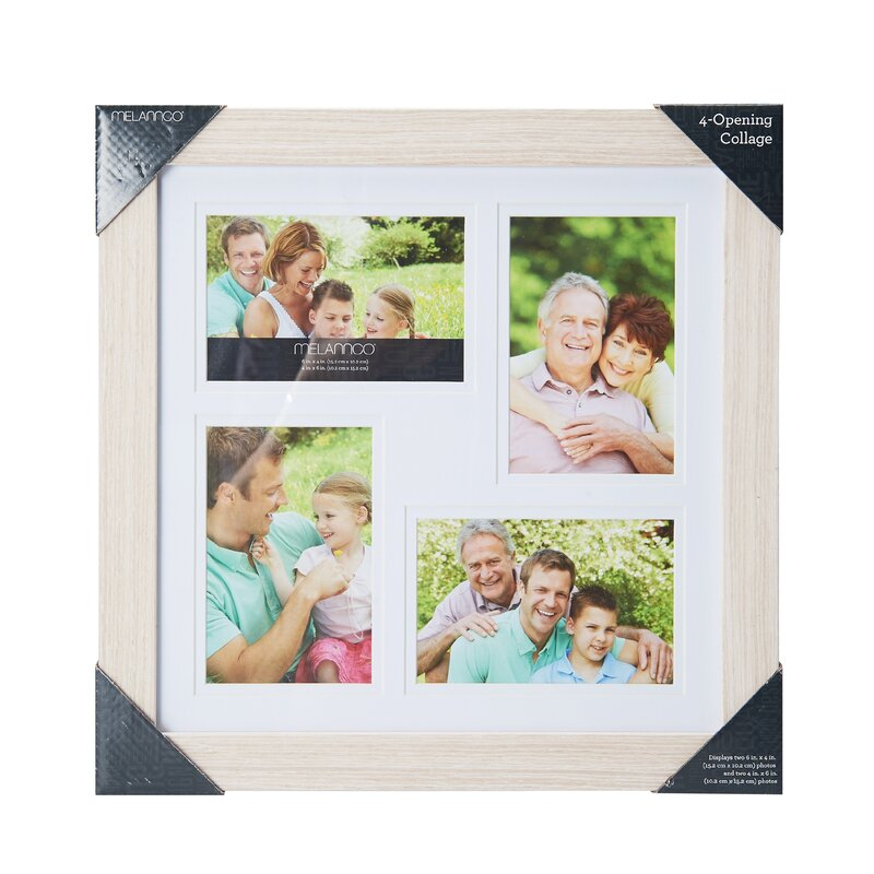 Charlton Home Curtisville 4 Opening Wood Collage Picture Frame ...