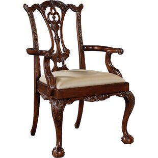 Carved Chippendale Upholstered Dining Cha..