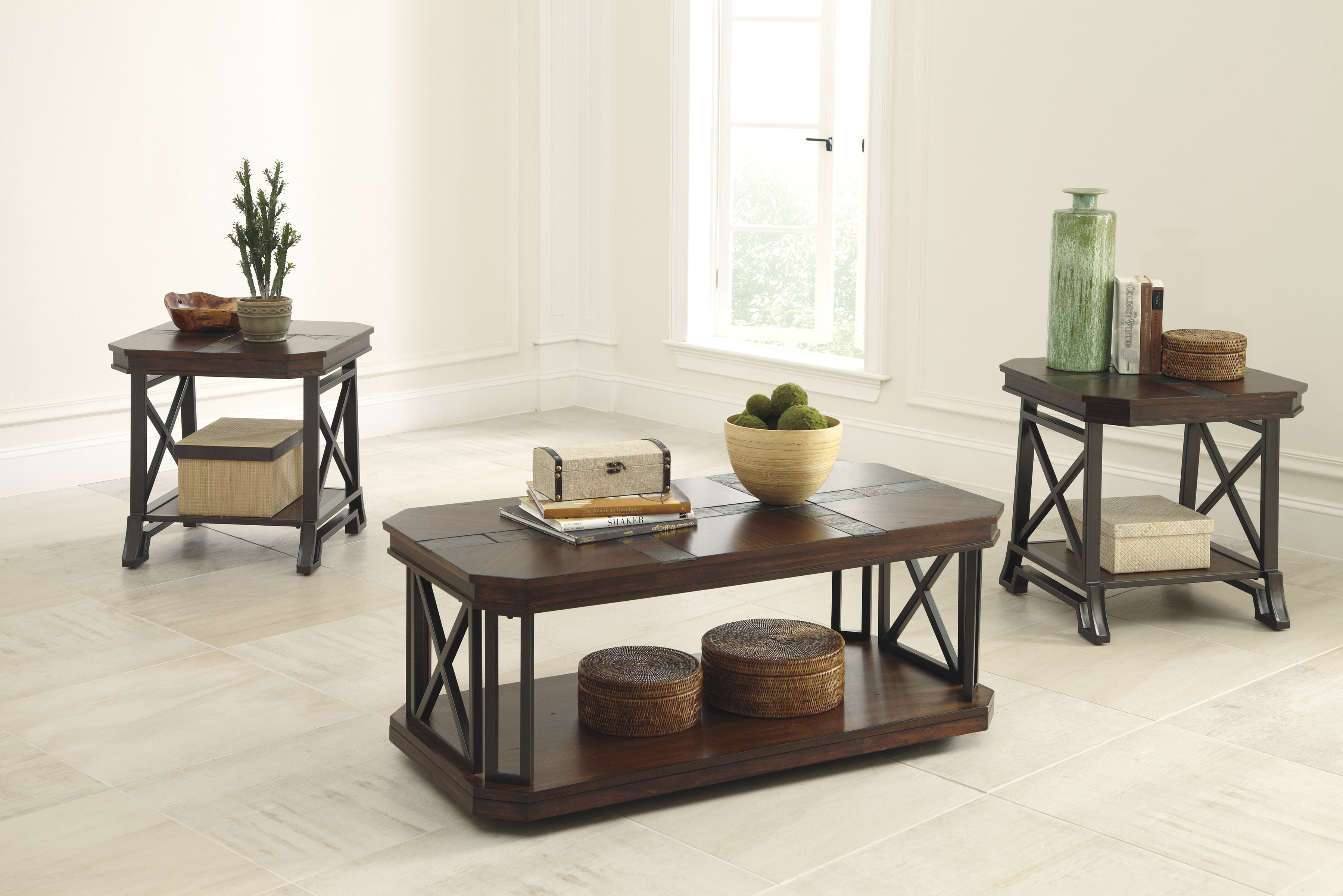 Loon Peak Antlers 3 Piece Coffee Table Set & Reviews   Wayfair
