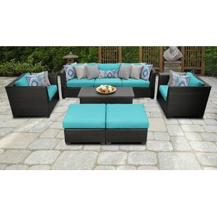 Medley 8 Piece Sofa Seating Group with Cushions