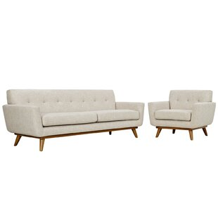 Langley Street Johnston 2 Piece Living Room Set