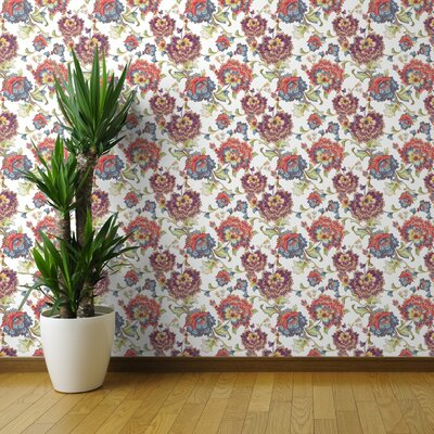 Rayne Chintz Wallpaper Panel Red Barrel Studio
