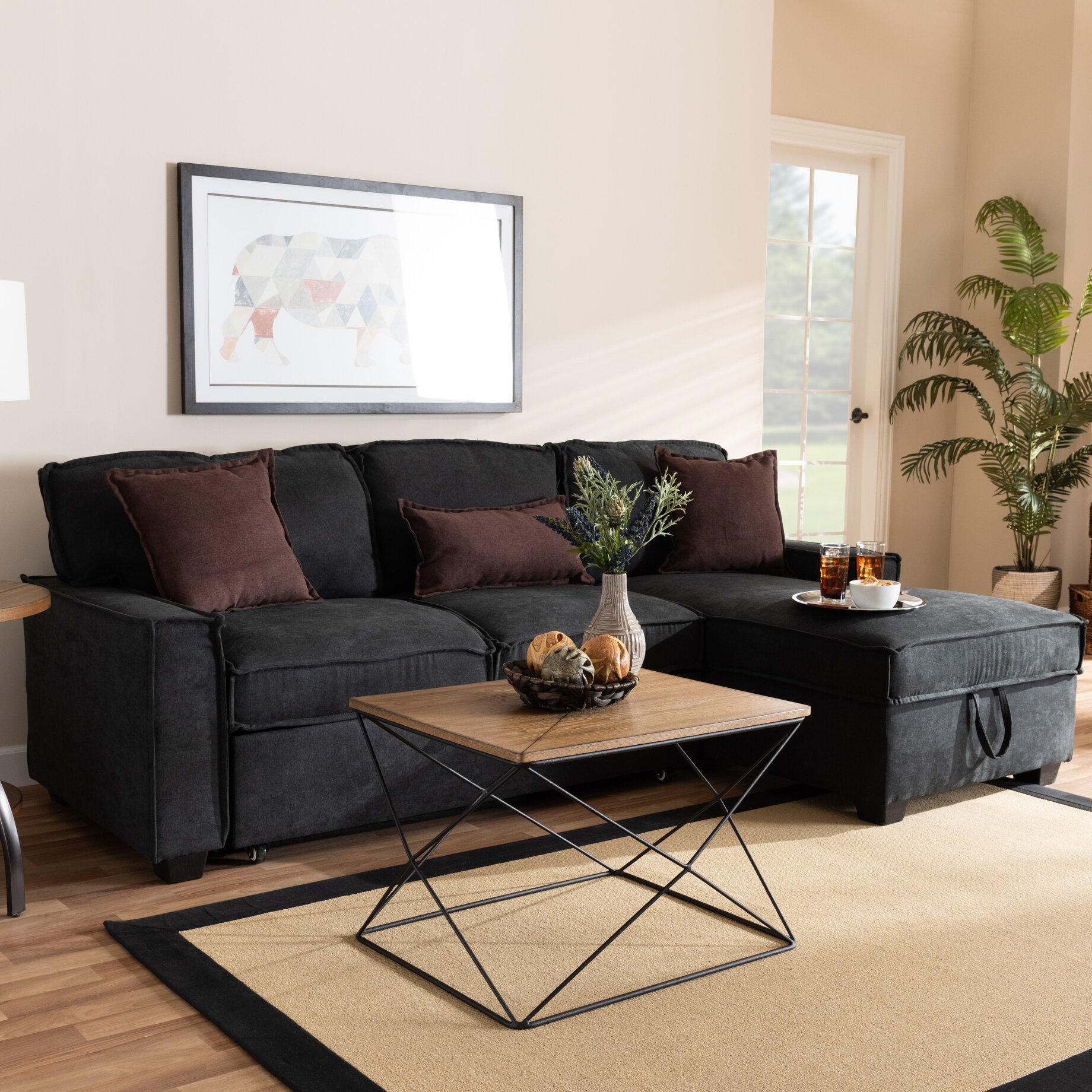 Winston Porter Hersh 23 6 Wide Right Hand Facing Sleeper Sofa Chaise Reviews Wayfair