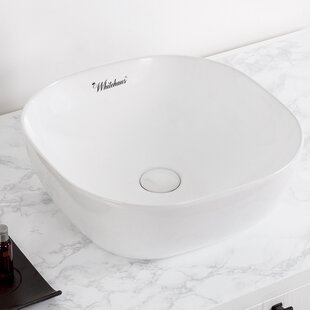 Deals Isabella Plus Vitreous China Square Vessel Bathroom Sink By Whitehaus Collection