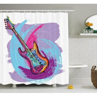Modern Electric Guitar Decor Single Shower Curtain