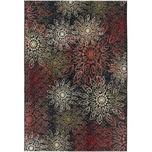 Sauget Brown/Moss/Red/Ivory/Coral Indoor/Outdoor Area Rug