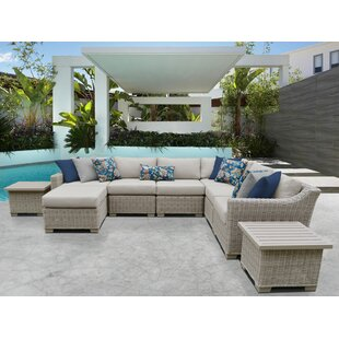 Claire 9 Piece Sectional Seating Group with Cushions