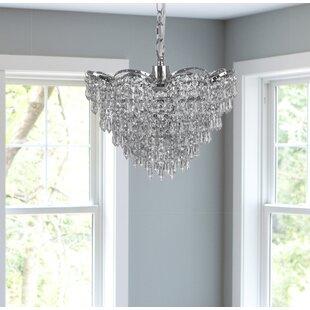 House of Hampton Monier Cascading Crystal Glass 1-Light Crystal Pendant