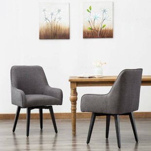 Alyssa Upholstered Dining Chair Set of 2 by Wrought Studio