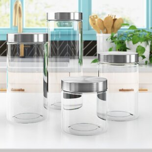 Grey Kitchen Canisters Wayfair
