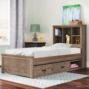 Stella Panel Bed with Bookcase Storage with 2 drawers