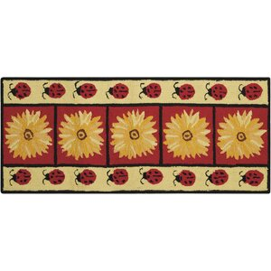 Homer Hand-Tufted Red/Yellow Novelty Rug